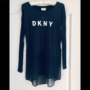 DKNY long sleeve hi low top XXS